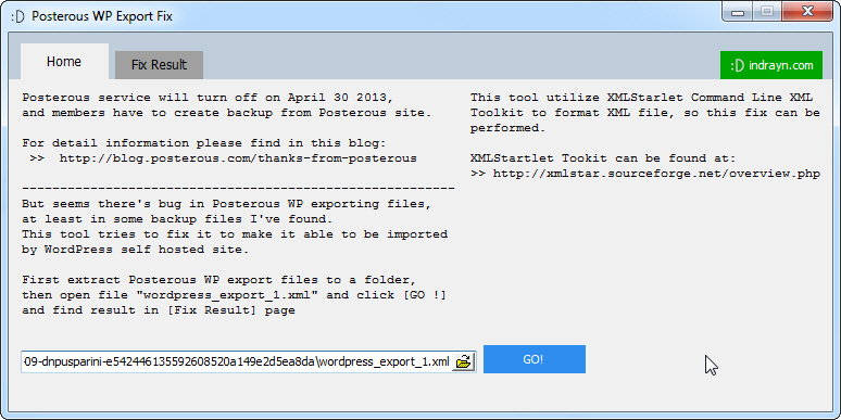 Fix Posterous WordPress Export Data Backup can not be imported